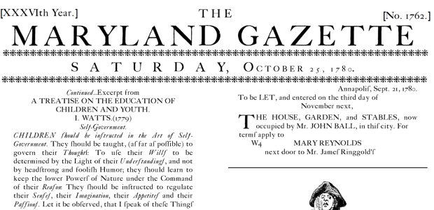 Maryland Gazette Repro
